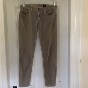 AG The Stevie grey corduroy pants 28